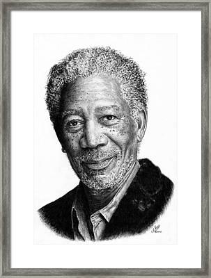 Morgan Freeman Framed Print by Andrew Read