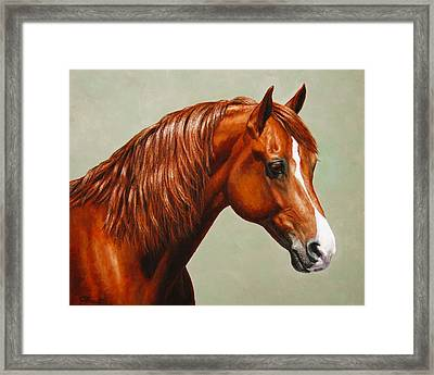 Morgan Horse - Flame Framed Print by Crista Forest