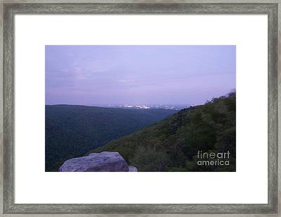 Morgantown West Virginia Waking Framed Print by Timothy Connard