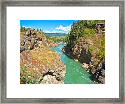 Moricetown Canyon On The Bulkley River In Moricetwown-bc Framed Print by Ruth Hager