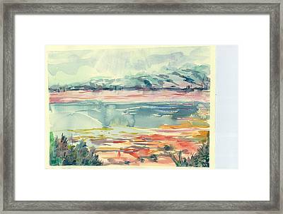 Mormon Lake Framed Print by Marilyn Miller