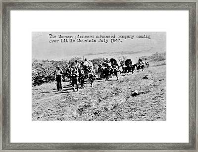 Mormon Pioneers Framed Print by Benjamin Yeager