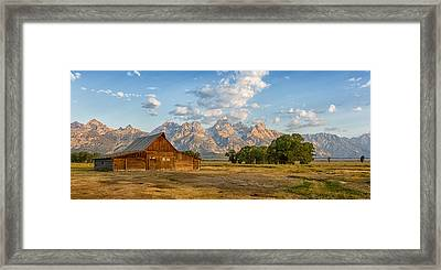 Mormon Row Farm Framed Print by Andres Leon