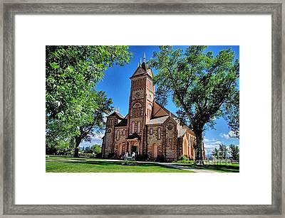 Mormon Tabernacle Framed Print by David Burks