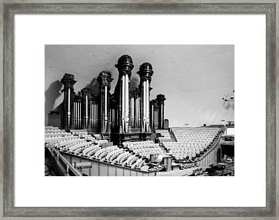 Mormon Tabernacle Organ - Salt Lake City Framed Print by Mountain Dreams