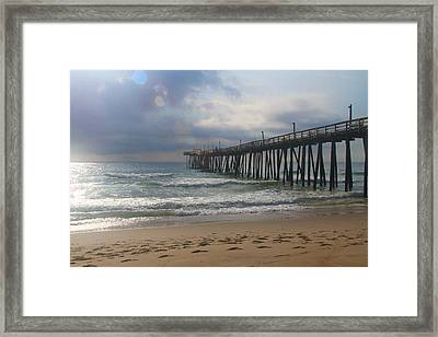 Morning At Rodanthe Pier 11 Framed Print by Cathy Lindsey