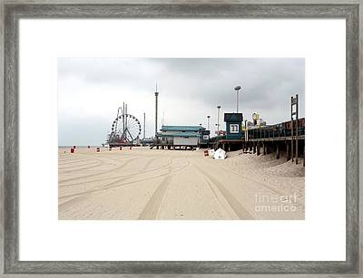 Morning At Seaside Heights Framed Print by John Rizzuto