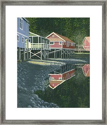 Morning At Telegraph Cove Framed Print by Gary Giacomelli
