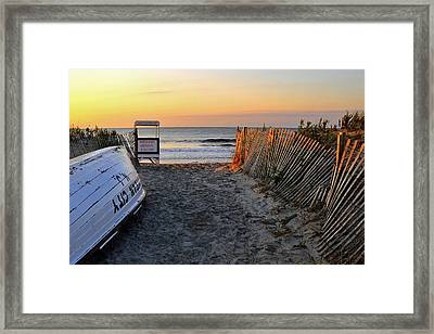 Morning At The Beach Framed Print by Dan Myers