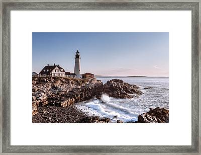 Morning At The Lighthouse Framed Print by Eduard Moldoveanu
