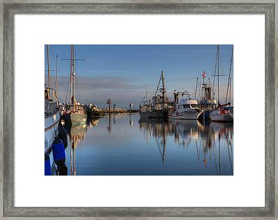 Morning At The Marina Framed Print by Randy Hall
