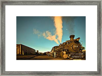 Morning At The Yard Framed Print by Robert Frederick