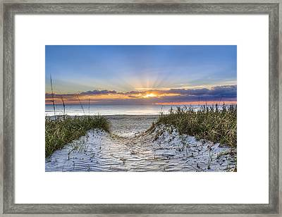 Morning Blessing Framed Print by Debra and Dave Vanderlaan