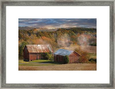 Morning Burn Framed Print by Fran J Scott