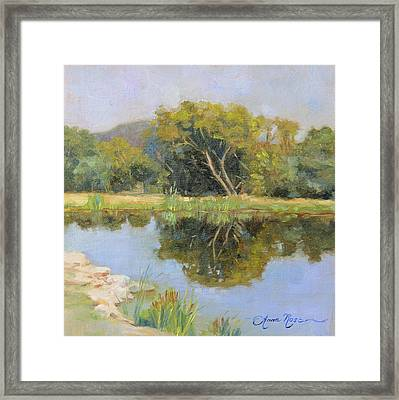 Morning Calm In Texas Summer Framed Print by Anna Rose Bain