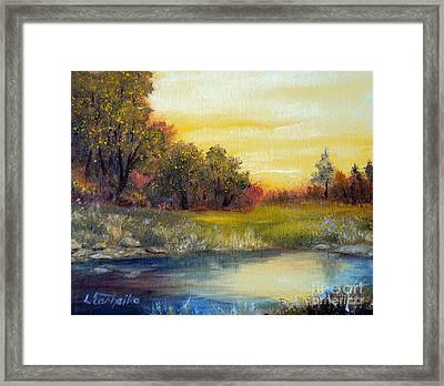 Morning Calm Framed Print by Laura Tasheiko