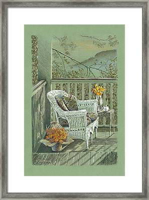 Morning Coffee At The Piedmont Inn Framed Print by Jill Westbrook