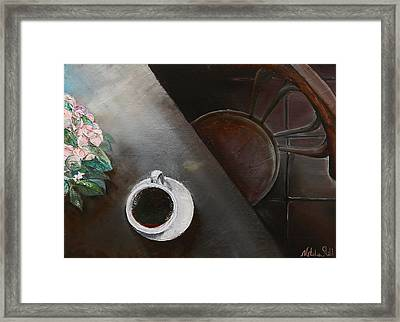 Morning Coffee Framed Print by Natalia Stahl