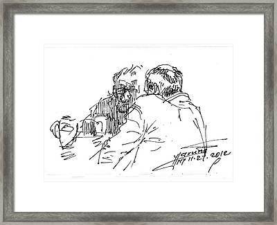 Morning Coffee Framed Print by Ylli Haruni