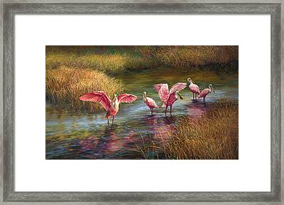 Morning Dance Framed Print by Laurie Hein