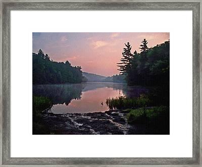 Morning....... Egypt Pond Framed Print by Joy Nichols