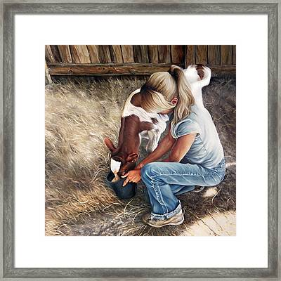Morning Feed Framed Print by Brent Schreiber
