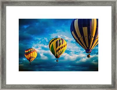 Morning Flight Hot Air Balloons Framed Print by Bob Orsillo