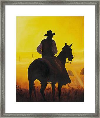Morning Fog Framed Print by Don Dane