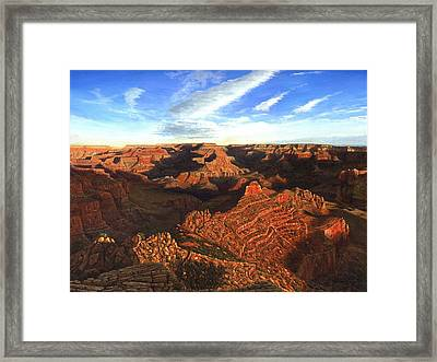 Morning Glory - The Grand Canyon From Kaibab Trail  Framed Print by Richard Harpum