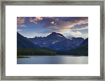 Morning Glow At Glacier Park Framed Print by Andrew Soundarajan