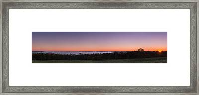 Morning Has Broken Over A Misty Valley Framed Print by Chris Bordeleau