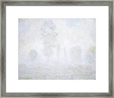 Morning Haze Framed Print by Claude Monet