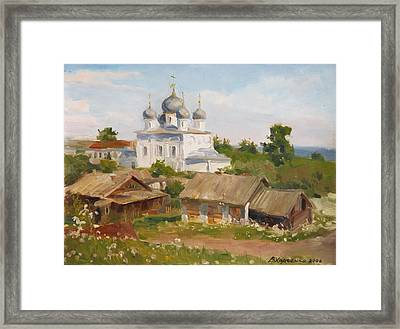 Morning In Belozersk Framed Print by Victoria Kharchenko