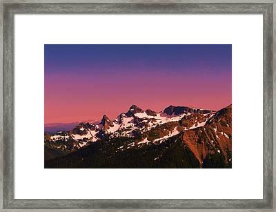 Morning In The Cascades Framed Print by Jeff Swan
