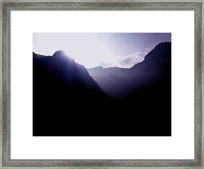 Morning In The Mountains Framed Print by Lucy D