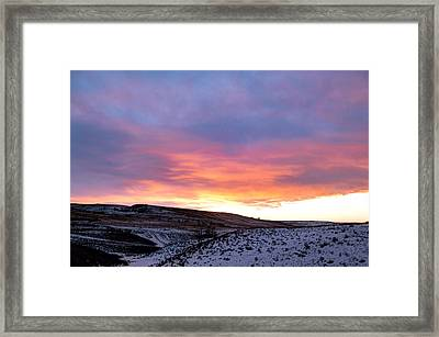 Morning In The Prairie Foothills Framed Print by Heather Simonds