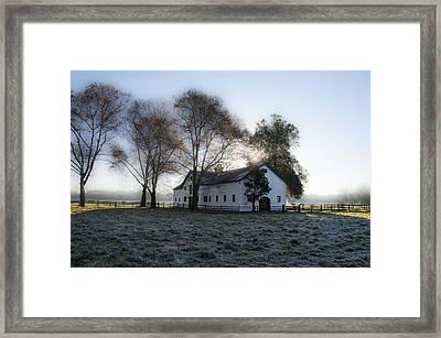 Morning In Whitemarsh - Widener Farms Framed Print by Bill Cannon