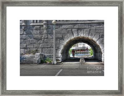 Morning Jog Framed Print by David Bearden