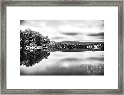 Morning Lake View Framed Print by John Rizzuto