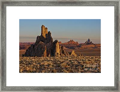 Morning Light At Church Rock Framed Print by Sandra Bronstein