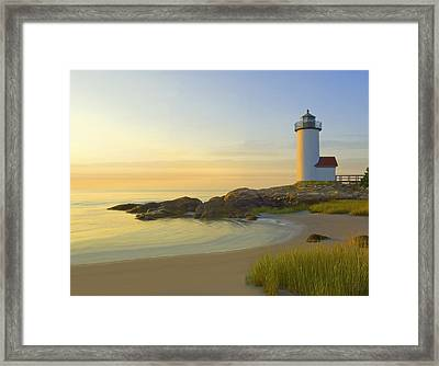 Morning Light Framed Print by James Charles