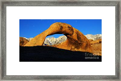Morning Light Mobius Arch Framed Print by Bob Christopher