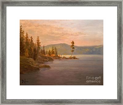 Morning Light On Coeur D'alene Framed Print by Paul K Hill