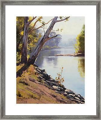 Morning Light Tumut River Framed Print by Graham Gercken