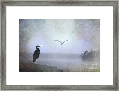 Morning Mist Along The Masagee Framed Print by The Stone Age