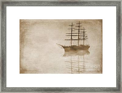 Morning Mist In Sepia Framed Print by John Edwards