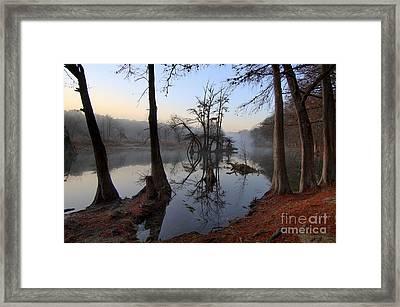 Morning Mist On The Blanco Framed Print by Richard Mason