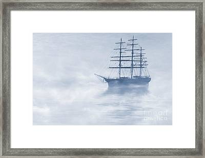 Morning Mists Cyanotype Framed Print by John Edwards