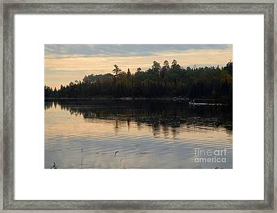 Morning On Boot Lake Framed Print by Larry Ricker