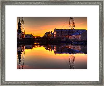 Morning On The River Framed Print by Bill Gallagher